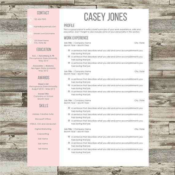 Resume Template | Resume Word Instant Download with Cover Letter & References List | Resume Tips   #resumetemplate #resume #resumedesign #etsyseller #etsyshop