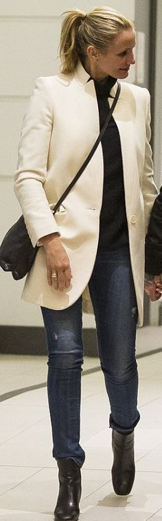 Who made Cameron Diaz's white coat?