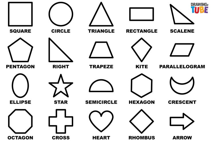 geometric drawing easy basic drawings shapes step simple