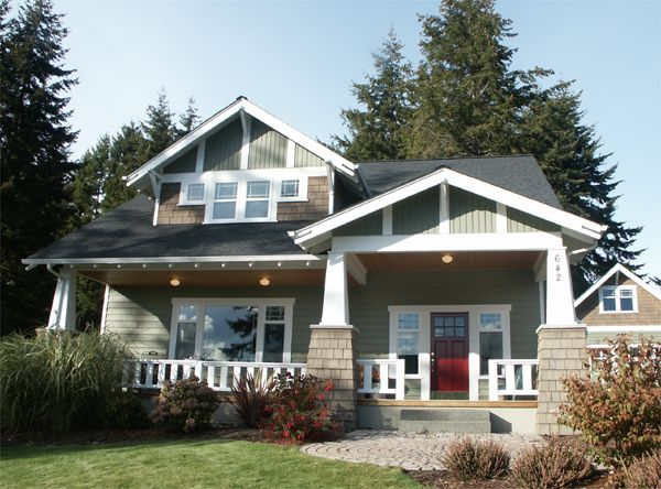 Bungalow! Great house - I want one: Bungalows, Craftsman House, Exterior, Dream House, Craftsman Style, Craftsman Homes, House Plans