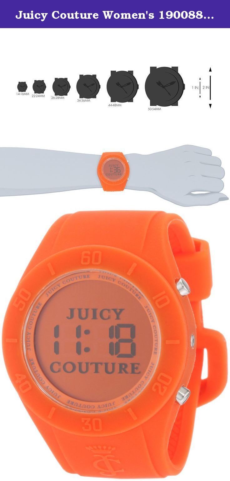 Juicy Couture Women's 1900883 Sport Couture Digital Orange Jelly Strap Watch. The Juicy Couture Women's 1900883 Sport Couture Digital Orange Jelly Strap Watch is an eye-catching timepiece with fashionable flair. Featuring a orange digital dial, orange silicone case and bezel and an orange rubber band, this watch is a stylish complement to a life on the go.