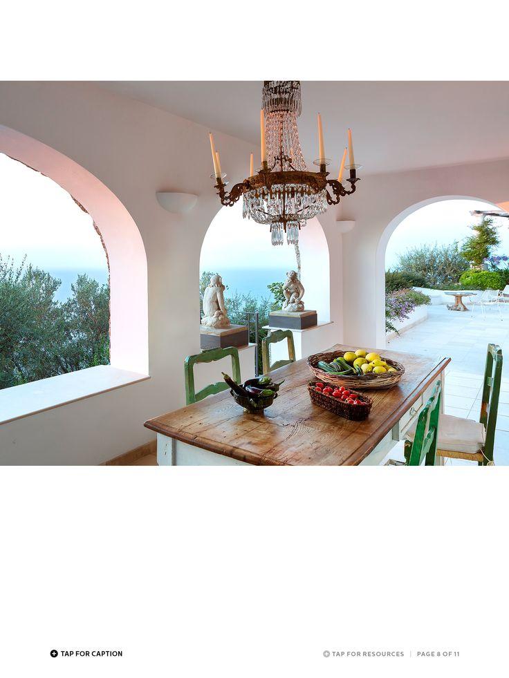 Villa Trasillo, Capri, by architect Francesco Della Femina.