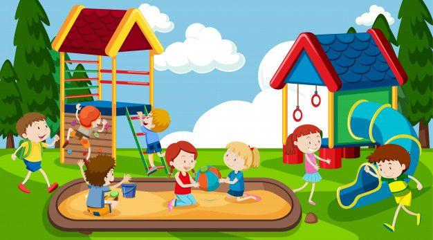 Baixe Meninos E Meninas Ativos Que Praticam Atividades Esportivas E Divertidas Fora Gratuitamente Kids Playing Drawing For Kids Rainbow Kids