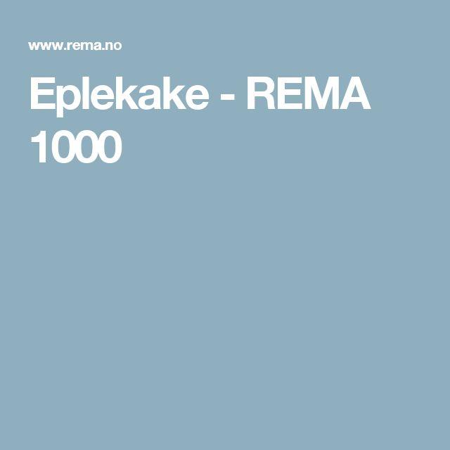 Eplekake - REMA 1000