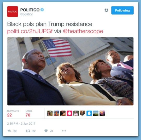 Congressional Black Caucus Plotting Resistance To Trump's Presidency - BB4SP
