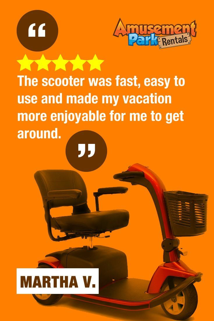 72 best images about amusement park rentals reviews on for Motorized scooter rental orlando