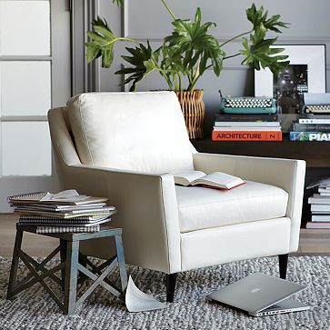 west elm everett chair threshold dining leather our house pinterest living room and