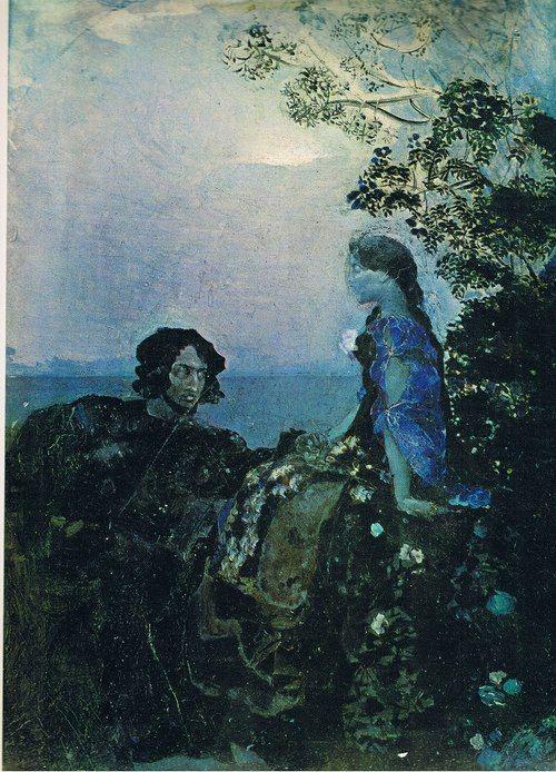 Mikhail Vrubel - Hamlet & Ophelie (1883-4)