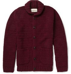 Oliver SpencerChunky Patterned Lambswool-Blend Cardigan
