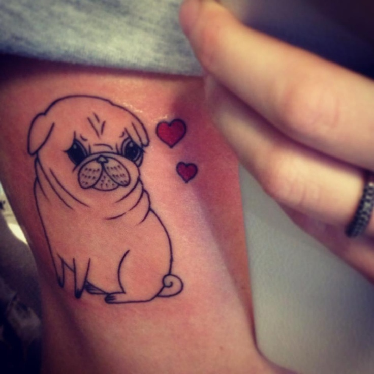 Pug Tattoo  //  original art by Gemma Correll