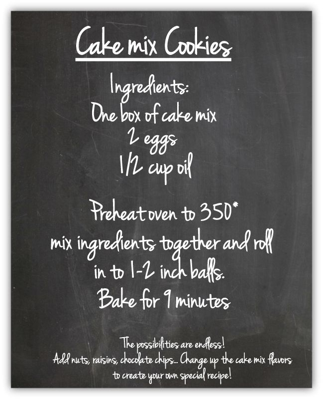 Cake Mix Cookies |  I've been trying to remember this recipe, but I think I use 1 egg instead of 2.