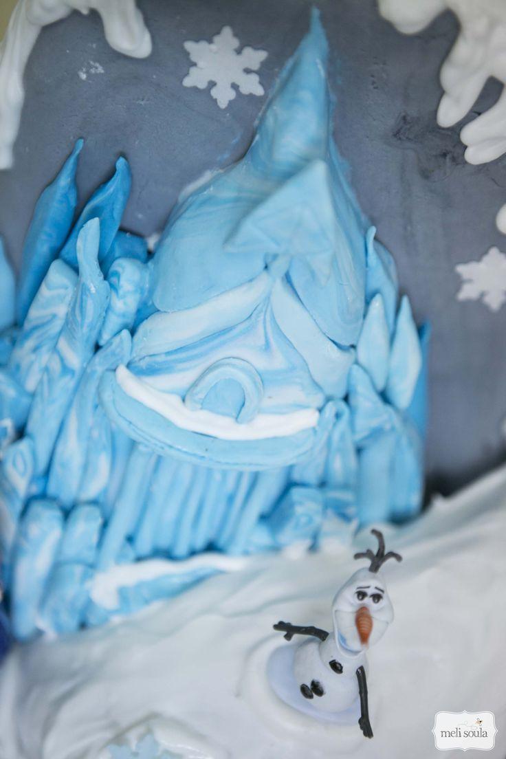 3d τούρτα γενεθλίων με θέμα την ταινία Frozen (Ψυχρά κι Ανάποδα)