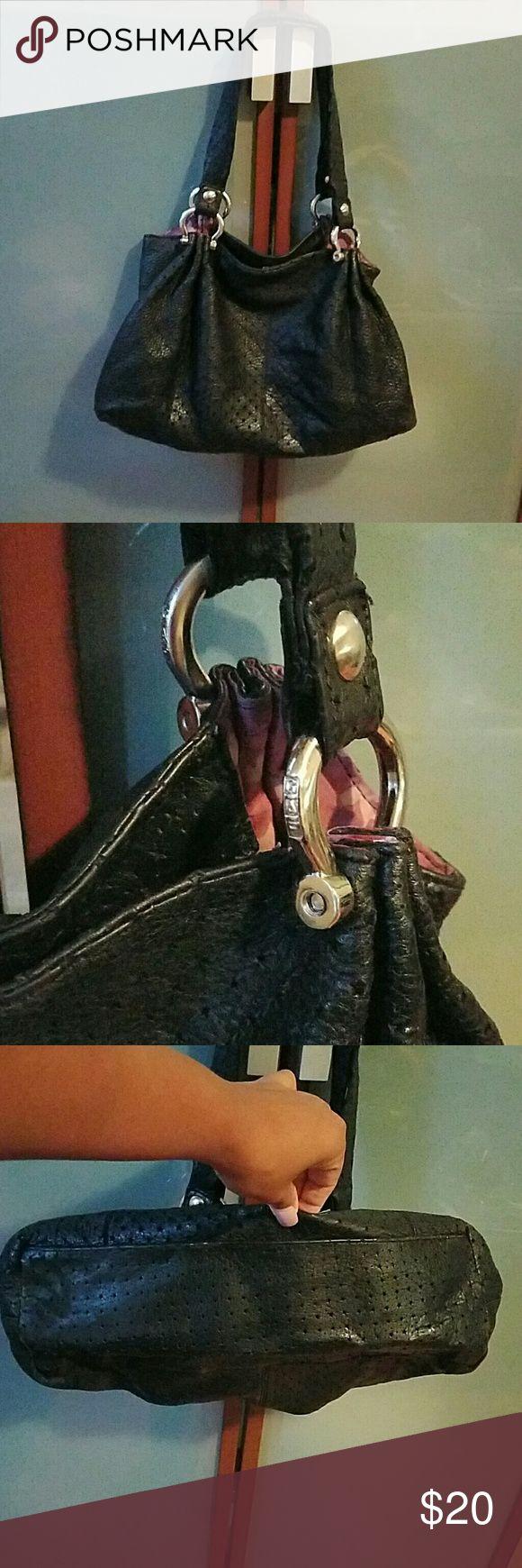 Gap leather handbag Black leather Gap handbag, good condition inside and out, on or off shoulder bag Bags Shoulder Bags