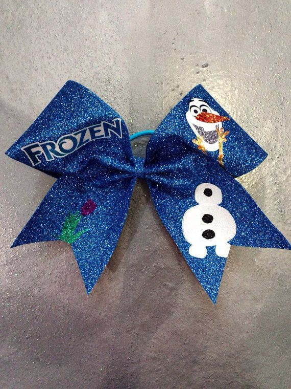 Disney inspired Frozen Cheer Bow..I'm not a cheerleader but I love wearing bows