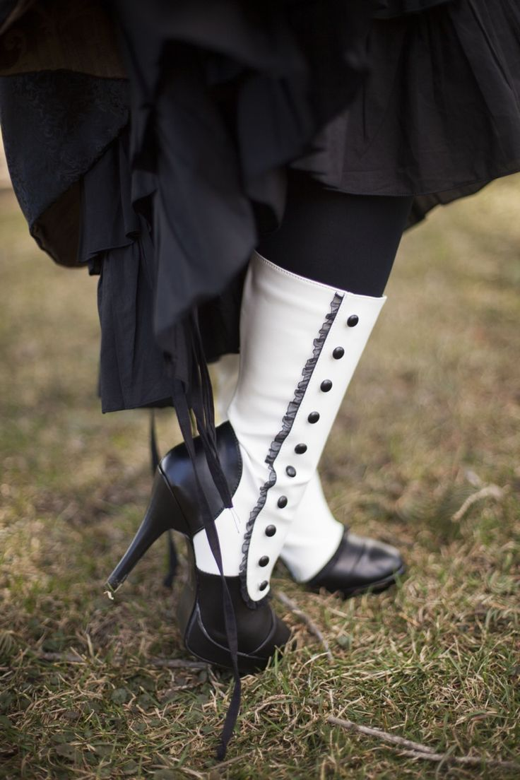 Victorian boots with buttons  For the BEST Neo Victorian Steampunk looks follow our board -> http://www.pinterest.com/vglondon/neo-victorian-love/