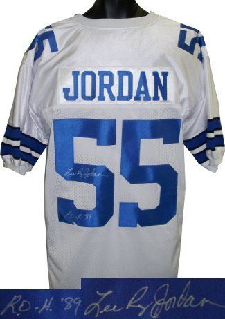 Lee Roy Jordan signed Dallas Cowboys White Prostyle Jersey ROH 89 . $232.56. Lee Roy Jordan was drafted by the Cowboys in 1963. He became the franchise's all-time leader in solo tackles (743) in his 14 seasons with the Cowboys. He was a two-time All-Pro and a five-time Pro Bowler. He also helped the Cowboys to three Super Bowls and five NFC Championship games. Lee Roy Jordan has hand signed this Dallas Cowboys White Prostyle jersey with ROH 89 (Ring of Honor) inscription. Ce...
