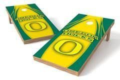 Oregon Ducks Single Cornhole Board - The Edge