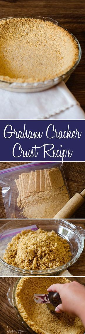 Homemade Graham Cracker Crust. An easy classic that is a great base for a ton of pies.   Winter   Holiday   Christmas   Pies   Pie Crust   #piecrust #bestpiecrust #holidaydessert #partydessert #pie #grahamcrackercrust