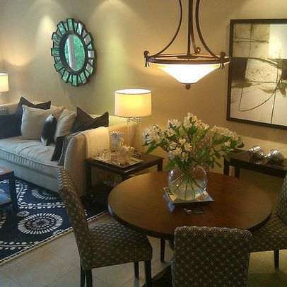 Best 25 living dining combo ideas on pinterest dining for Small dining room decor