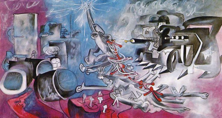 La Vida de Allende la muerte. Pintada por Roberto Matta entre los años 73 y 74 después del Golpe Militar en Chile. Esta pintura se encuentra en el Museo de la Solidaridad Salvador Allende, Santiago de Chile.