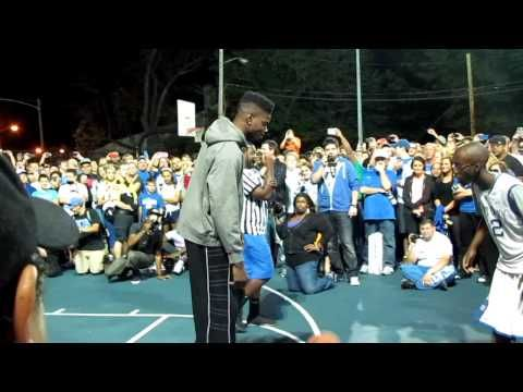 ▶ Nerlens Noel vs. Stone Cold Willow at Big Blue Madness Campout 2012 - YouTube