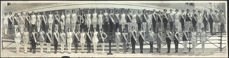 5th Miss America pageant 1925 at the Million Dollar Pier in Atlantic City, New Jersey on September 11, 1925/Inter City Beauties 1925/Atlantic City Service photo/wiki/Entrants from the West Coast, Miss California, (#12. from left)Fay Lanphier from Oakland, and Miss Los Angeles, Adrienne Dore, captured the top two awards. The newly crowned beauty queen was a #2.runner-up in Miss 6.sept.1924 competition as Miss Santa Cruz.Lanphier was also the #1.Miss America crowned representing an entire…
