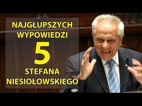 5 najgłupszych wypowiedzi Stefana Niesiołowskiego. - YouTube
