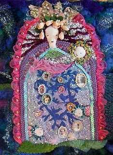 by Sara Lechner: Sara Lechner, Lechner Ribbons, Lechner Blog, Lechner Madonna, Sarah Lechner, Art Textiles, Ribbons Embroidery, Fiber Art, Embroidery Art
