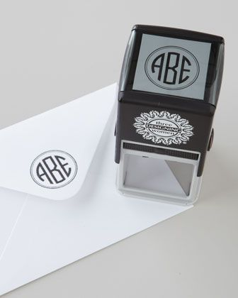 Three-Initial Circle Monogram Stamper & Ink by Three Designing Women at Horchow.