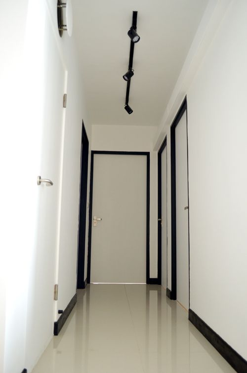 Track lights along the corridor  Pig sty furniture in 2019  Bedroom doors Scandinavian doors