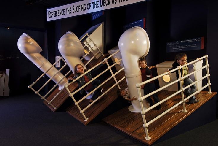 Titanic Branson Interior Interactive Display Sloping Deck