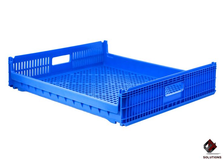 E4-2018 CHAROLA PANAMA  Fabricada en polietileno Alta Densidad, no toxico y con grado alimenticio. Aprobado para productos que estén en contactos con alimentos, Solo en material virgen. Forma de estiba: 13 piezas con producto. Tipo de empaque: Anidable. Dimensiones: 74 cm. x 67 cm. x 15.5 cm. Capacidad de carga: 20 Kg. Peso: 2.8 kg. Color: Azul.