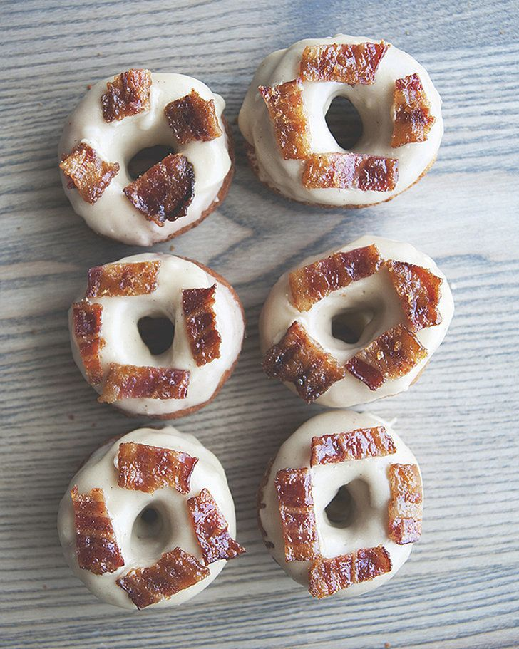 Get the recipe: maple-bacon doughnuts                   Image Source: The Kitchy Kitchen