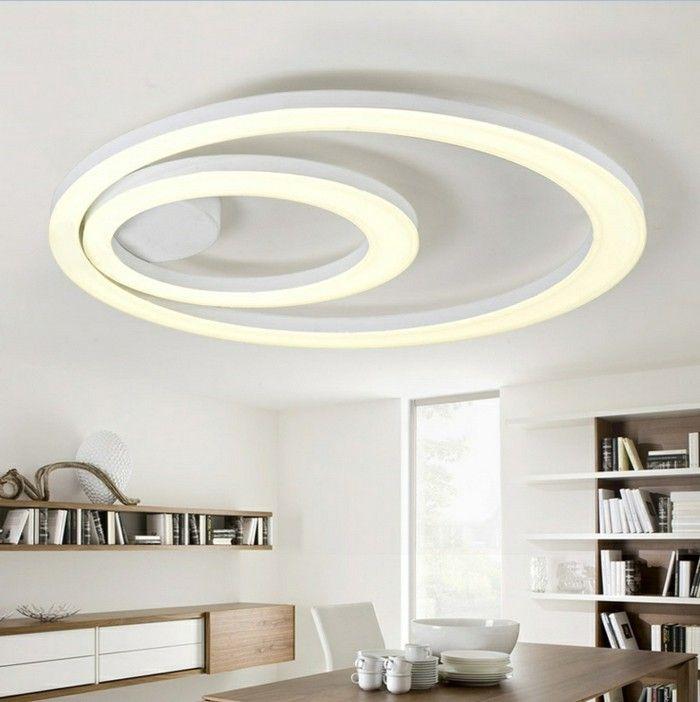 decoration led pour le plafond dans la chambre à manger chic et moderne
