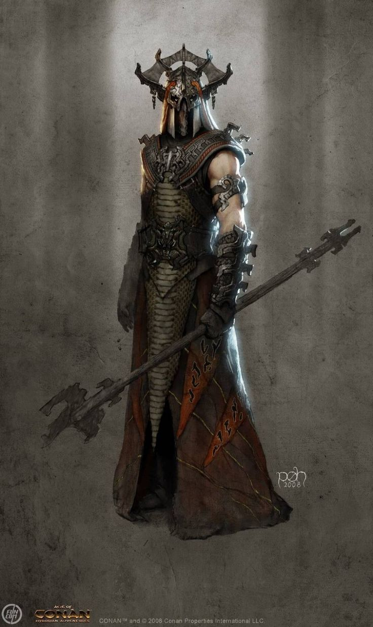 Demonologist concept art from the video game age of conan unchained by per oyvind haagensen