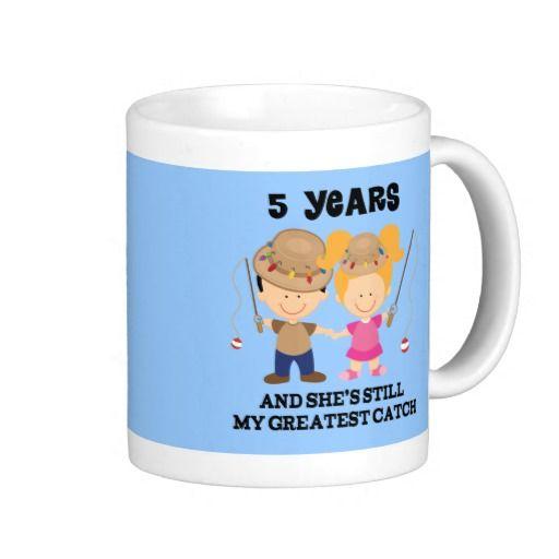 5th Wedding Anniversary Gift For Him Mug