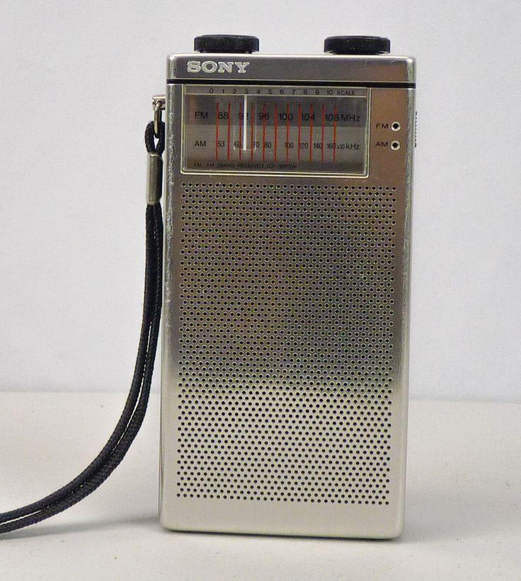 Vintage SONY Pocket Radio ICF-3860W AM/FM 2Band Receiver Portable Handheld WORKS #Sony