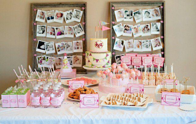 gateau-anniversaire-thematique-bébé-fille-cirque-drapeaux gâteau d'anniversaire