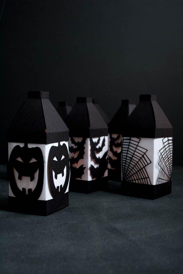 Halloween Paper Lanterns made with Cricut Explore -- This Heart of Mine. #DesignSpaceStar Round 3