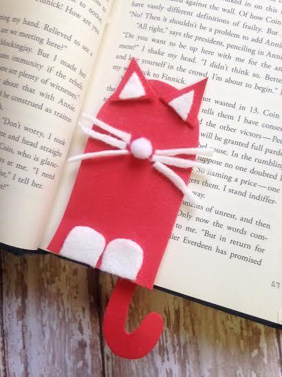 Cat Bookmark Kids Craft