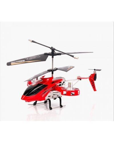 4CH RC Helicopter with Gyroscope Red 4 Channel Outdoor Remote Control Airplane w/ Gyro Metal Frame USB Rechargeable
