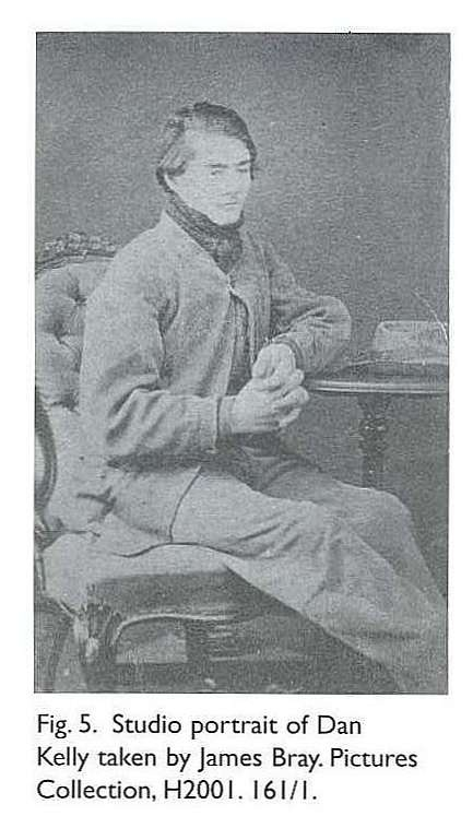 Fig. 5. Studio portrait of Dan Kelly taken by James Bray. Brother of Ned Kelly and member of the infamous Kelly Gang.