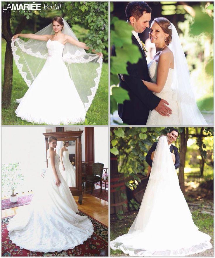 Uceda esküvői ruha - Pronovias kollekció - Krisztina menyasszonyunk - La Mariée Budapest http://lamariee.hu/eskuvoi-ruha/pronovias-od/uceda