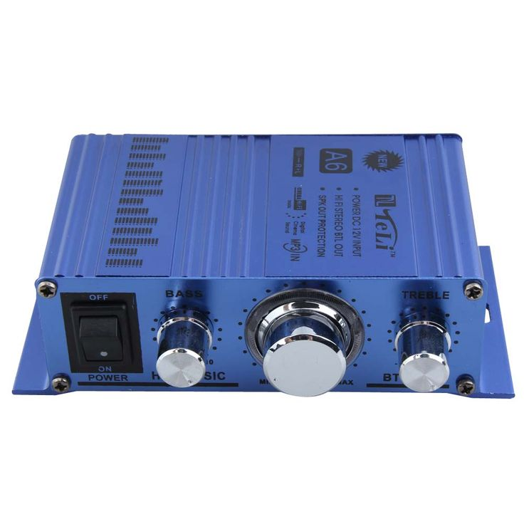 12V Hi-Fi Car Amplifier 2 Channel Digital Car Audio Stereo Amplifier CDDVD MP3 Input Subwoofer Music Player for Motorcycle Truck