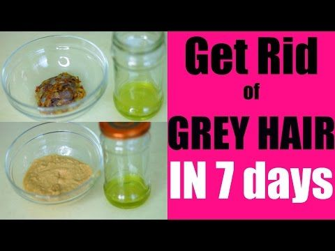Get Rid of Grey Hair Naturally in 7 Days | SuperPrincessjo - YouTube
