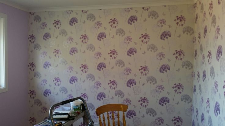 Girls room redecorated paper up...