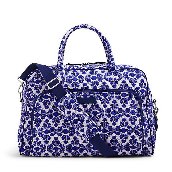 Vera Bradley Weekender Travel Bag in Cobalt Tile at The Paper Store