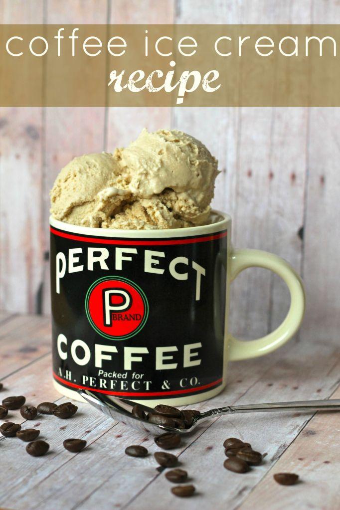 homemade coffee ice cream recipe!
