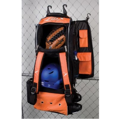 Diamond Boost Wheeled Bat Bag- this bag has a spot for EVERYTHING you need going to and from the diamond
