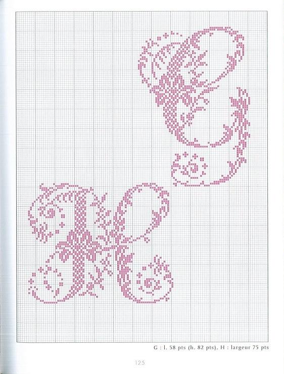 Gallery.ru / Фото #58 - belles lettres au point de croix - moimeme1